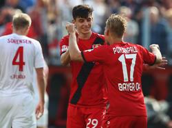 Kai Havertz (Mitte) ist der Youngster mit den meisten Toren