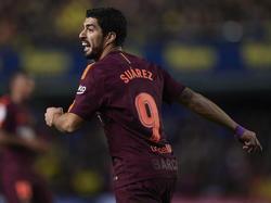 Suárez marcó en Castellón su tanto número siete tras un arranque complicado. (Foto: Getty)