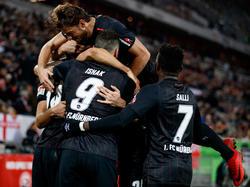 Der FCN durfte bei Fortuna Düsseldorf jubeln
