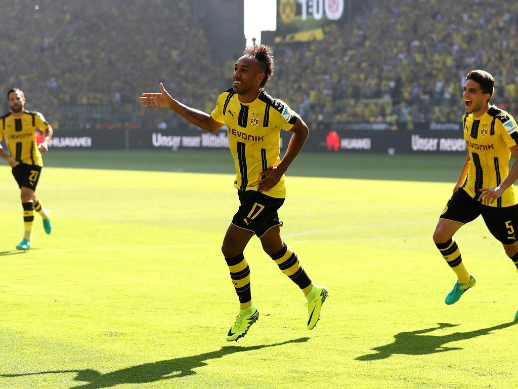 Pierre-Emerick Aubameyang netzte am Wochenende doppelt für den BVB