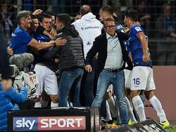 Norbert Meier zeigte sich mit dem Punkt seiner Mannschaft äußerst zufrieden