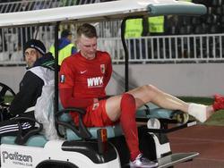 Jan-Ingwer Callsen-Bracker verletzte sich gegen Belgrad am Fußgelenk