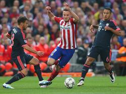 Saúl bescherte Atlético mit seinem Tor eine fast perfekte Ausgangsposition