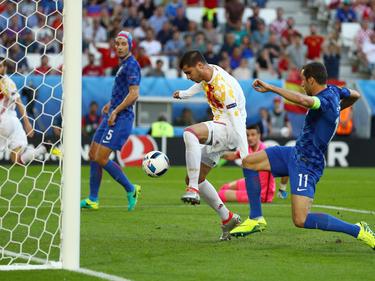 Im spanischen Team gesetzt und erfolgreich: Álvaro Morata (M.)