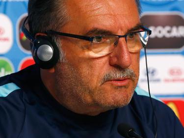 Ante Cacic en una rueda de prensa como técnico croata. (Foto: Getty)