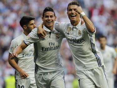 Cristiano Ronaldo (r.) schoss Real Madrid zum nächsten Sieg