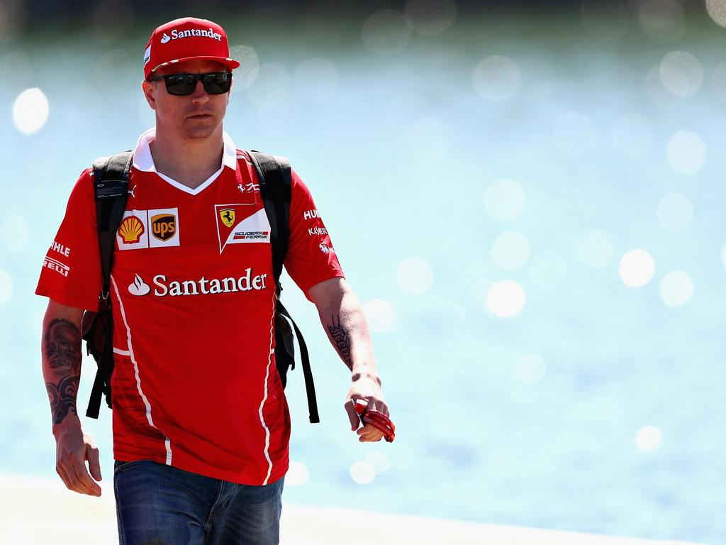 Räikkönen fährt im Ferrari Tagesbestzeit - Vettel Dritter
