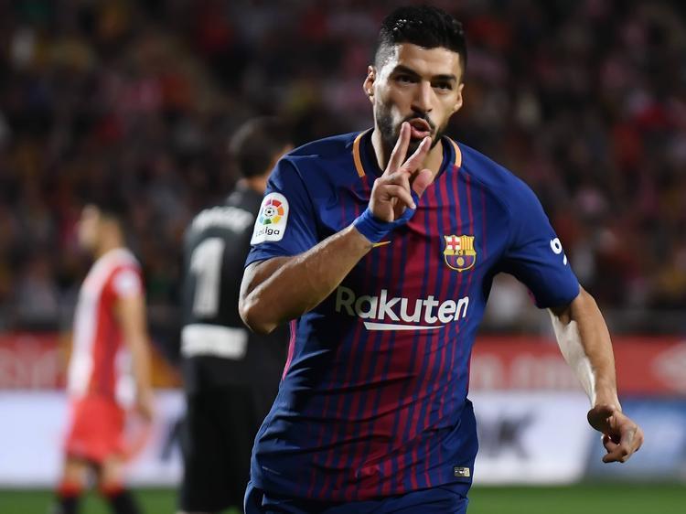 Luis Suárez traf im Derby als einziger ins richtige Tor