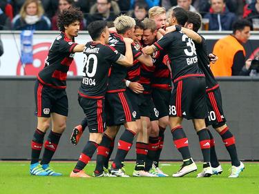 Bayer 04 Leverkusen feiert den Einzug in die Champions League
