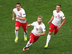 Jakub Błaszczykowski (M.) traf für Polen
