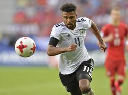 Voller Fokus auf den Ball: Serge Gnabry will ganz nach oben