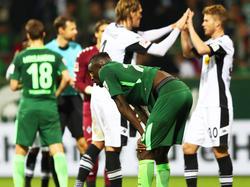 Lars Stindl (re.) erzielte das 1:0 für die Gladbacher