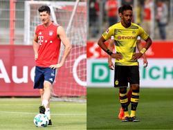 Robert Lewandowski und Pierre-Emerick Aubameyang duellieren sich weiterhin in der Bundesliga