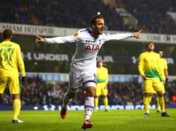 Roberto Soldado ist mit Tottenham ein heißer Anwärter auf den Europa-League-Titel