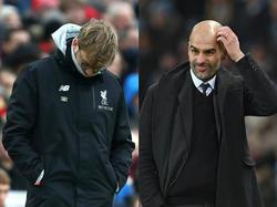 Jürgen Klopp und Pep Guardiola waren nicht zufrieden