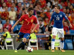 David Villa volvió a enfundarse la camiseta de España. (Foto: Getty)