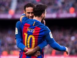 Neymar (hinten) zeigte eine starke Partie gegen Bilbao