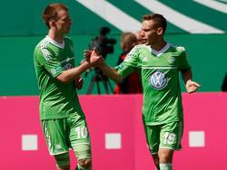 Federico Palacios-Martinez (r.) gewann letzte Saison mit Wolfsburg die A-Junioren-Meisterschaft