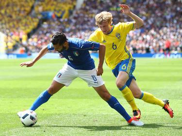 Antonio Candreva (l.) fällt gegen Spanien verletzungsbedingt aus