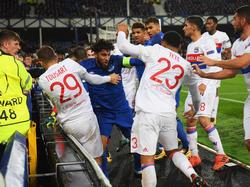 Bei der Partie zwischen Lyon und Everton ging es hoch her