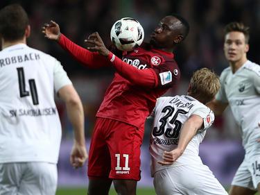 Jacques Zoua und die Roten Teufel setzten sich gegen den SV Sandhausen durch