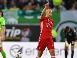 Arjen Robben trug mit einem Tor zum Sieg in Wolfsburg bei