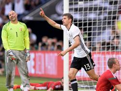 Thomas Müller hat in der ewigen Torschützenliste mit Klaus Fischer gleichgezogen