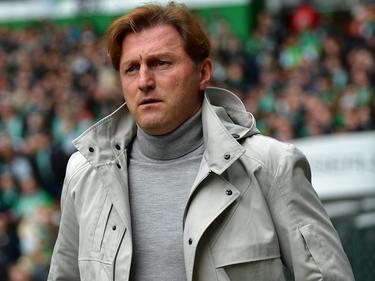 Leipzigs Trainer Ralph Hasenhüttl strebt mit seinem Team nach oben - ohne Druck.
