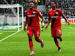 Bayer Leverkusen feiert den ersten Auswärtssieg der Saison
