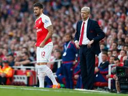 Olivier Giroud (l.) wird den hohen Ansprüchen von Teammanager Arsène Wenger nur bedingt gerecht