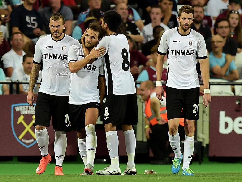 Die Spieler von Astra Giurgiu kegelten West Ham aus Europa