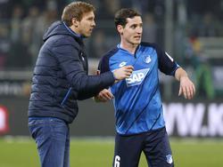 Sebastian Rudy (r.) ist der verlängerte Arm von Hoffenheim-Coach Julian Nagelsmann