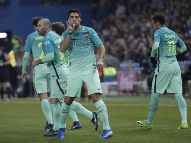Luis Suárez y Neymar acompañaban a Messi en el ataque culé. (Foto: Imago)