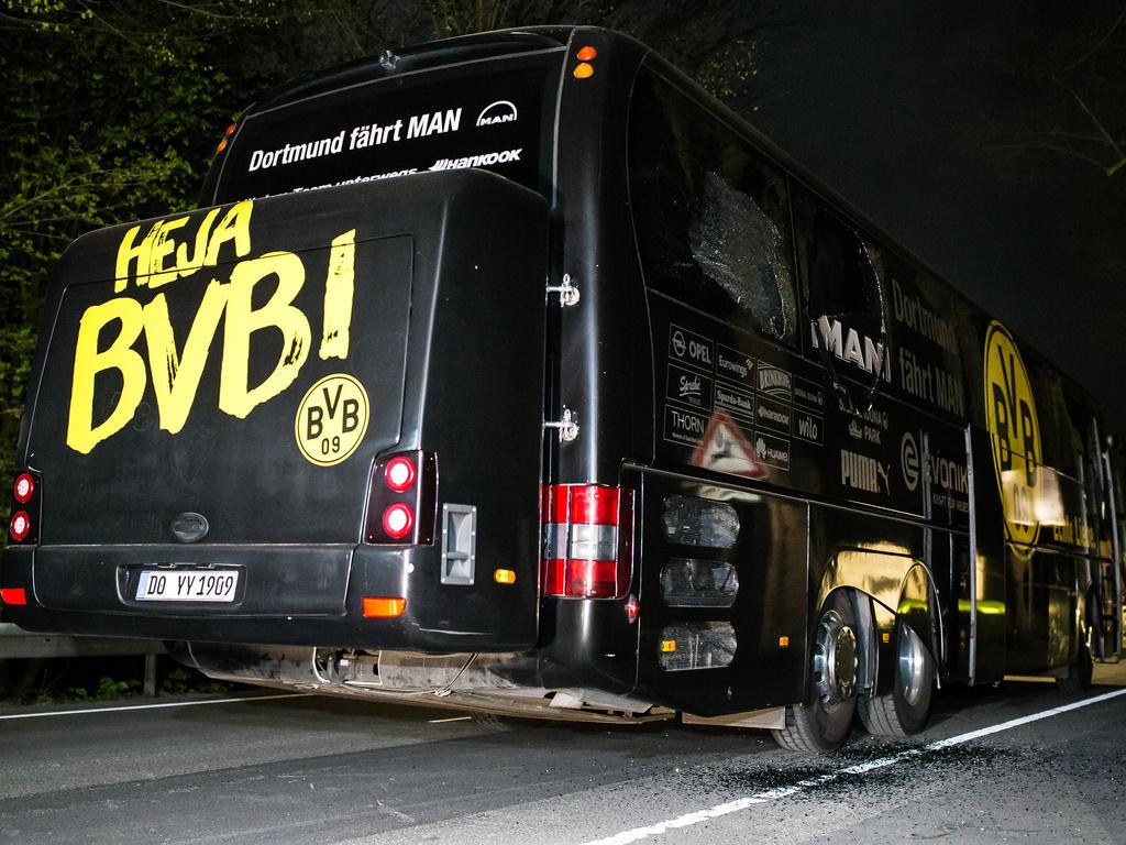 Autobús del BVB tras el atentado del pasado martes (Foto: Getty)