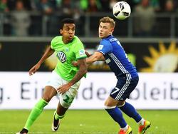 Luiz Gustavo (li.) war in Wolfsburg bereits auf dem Absprung