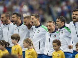 Voller Leidenschaft singen Italiens Fußballer vor jedem Länderspiel ihre Hymne.