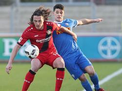 Julian Baumgartlinger und Bayer Leverkusen setzten sich gegen Nico Rieble und den VfL Bochum durch