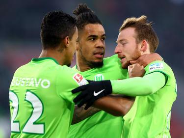 Maximilian Arnold y Daniel Didavi fueron los goleadores del Wolfsburgo. (Foto: Getty)