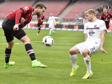 Erzgebirge Aue verliert beim 1. FC Nürnberg