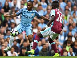 Raheem Sterling (l.) erzielte zwei Treffer für City