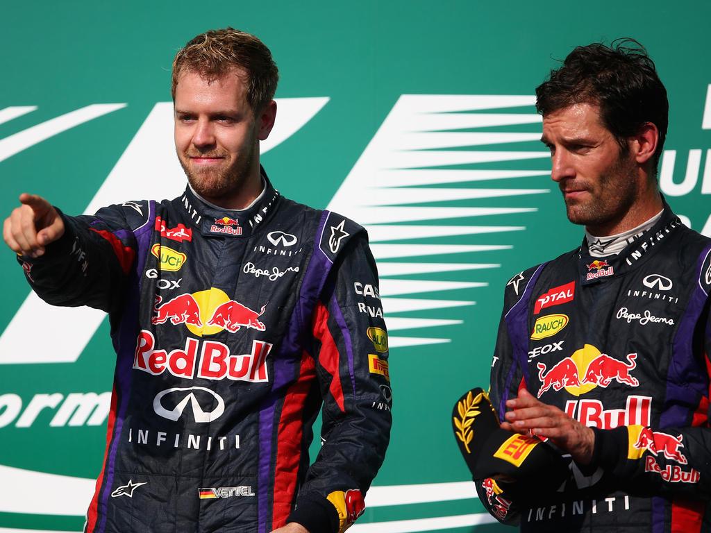 Mark Webber und Sebastian Vettel waren 2012 Teamkollegen bei Red Bull
