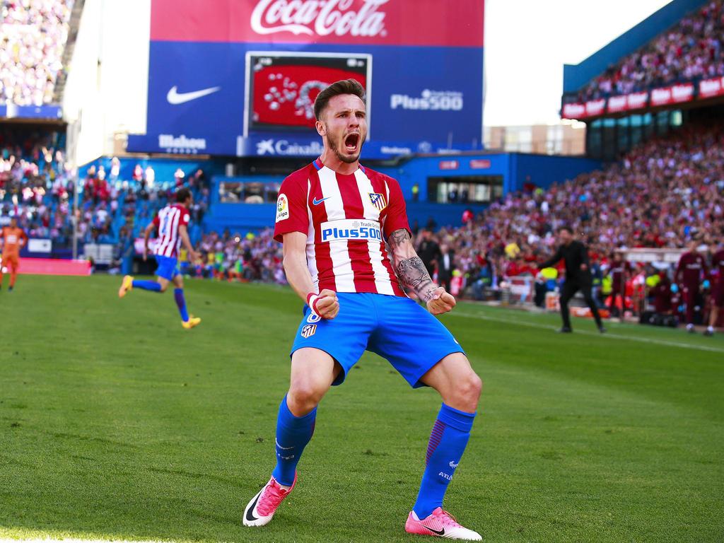 Saúl Ñíguez bejubelte seinen Treffer für Madrid