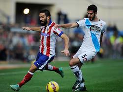 Pablo Insua en un partido en el Calderón con el Dépor. (Foto: Getty)