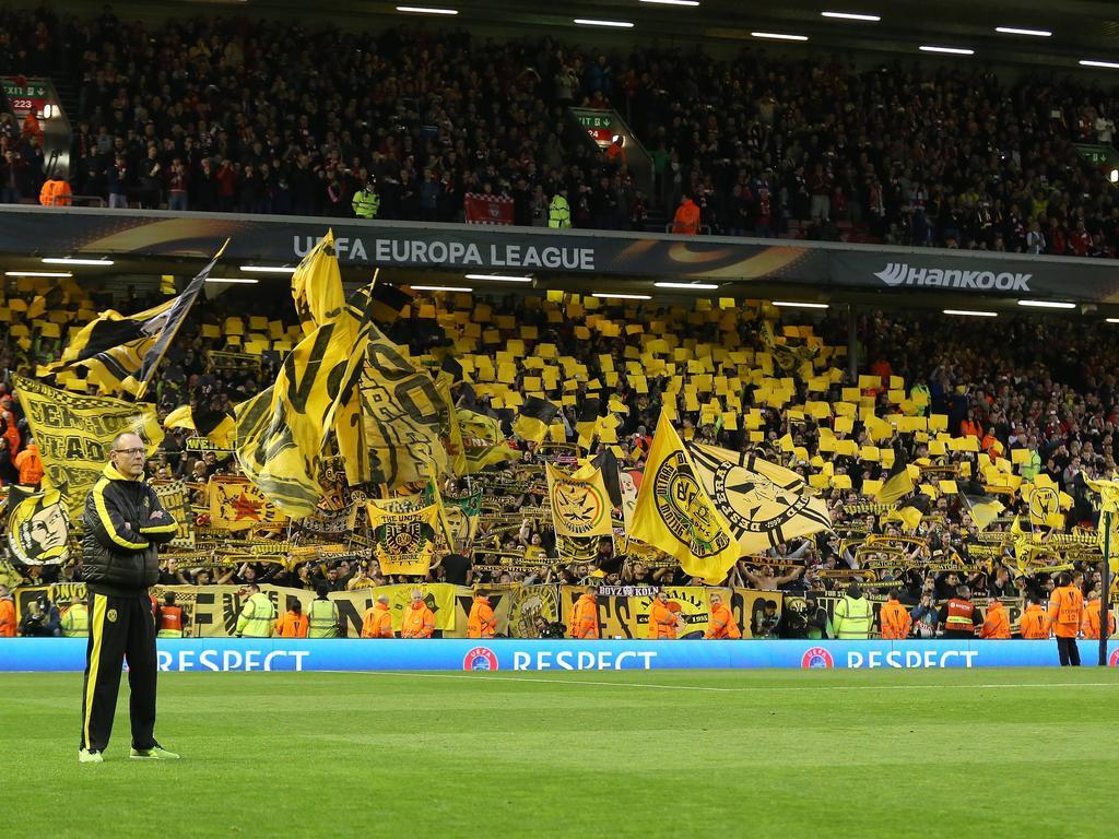 Die Fans von Borussia Dortmund und dem Liverpool FC sorgten am 14. April 2016 für Gänsehautstimmung