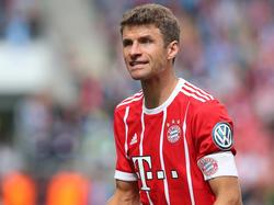 """Thomas Müller und der FC Bayern sind nach dem 3:1 gegen Leverkusen noch """"nicht im siebten Himmel"""""""
