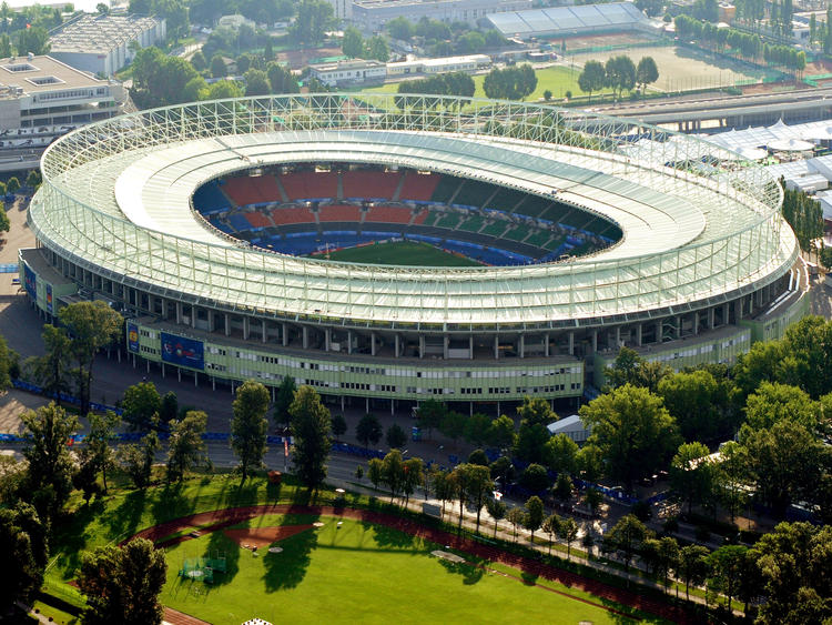 Das Ernst-Happel-Stadion. Baujahr: 1931