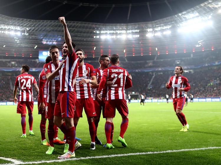 Die Rojiblancos durften in Leverkusen gleich viermal jubeln
