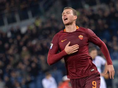 Edin Džeko erzielte beim Roma-Sieg gegen Crotone sein 18. Saisontor