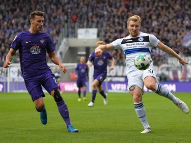 Andreas Voglsammer (r.) traf kurz vor Ende zum Punktgewinn für Bielefeld