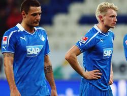 Sejad Salihovic (l.) und Andreas Beck fahren nicht mit zum Pokalspiel